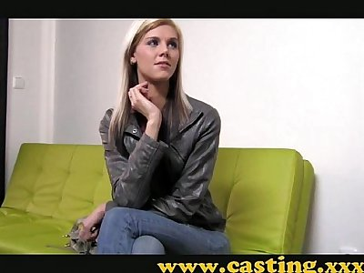 Casting - Super skinny babe gets fucked hard