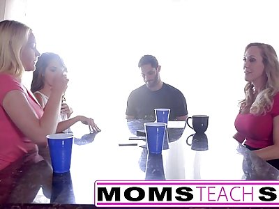 MomsTeachSex - Hot Mom & Teen Friends Orgy Fuck With Neighbor