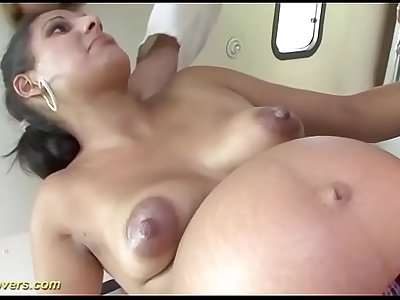 ambulance fuck orgy with two preggo babes