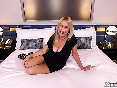 Horny Blonde MILF Sucks and Fucks Your Cock POV