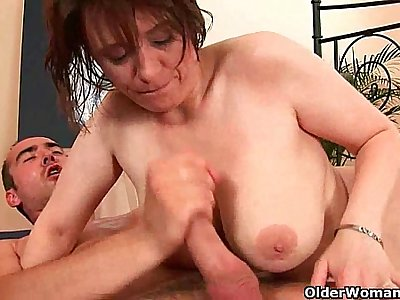 Cum hungry moms will drain your balls