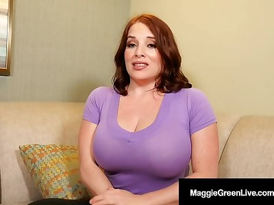 Massive Melons Maggie Green Sucks Her Step Son's Cock!